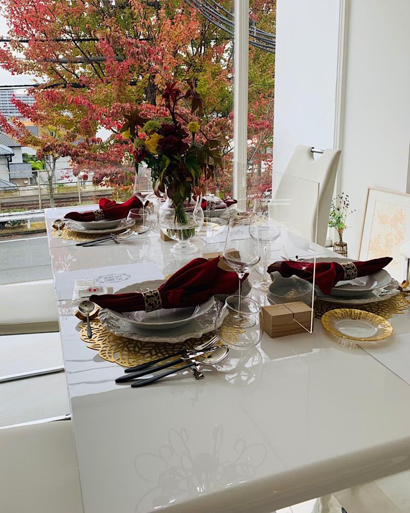 秋のサロン風景